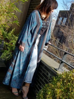 Zijden kimono lang