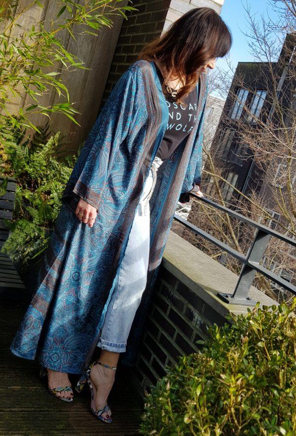 Zijden kimono lang | Haastje Repje Styling
